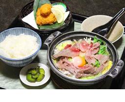 松阪牛鍋焼きうどん膳