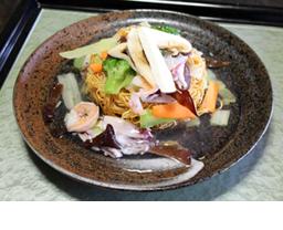 松茸入り海鮮皿うどん